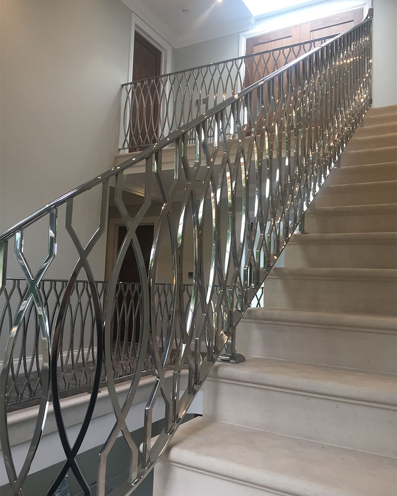 Mirror Polished Stainless Steel Balustrade Taylorhood